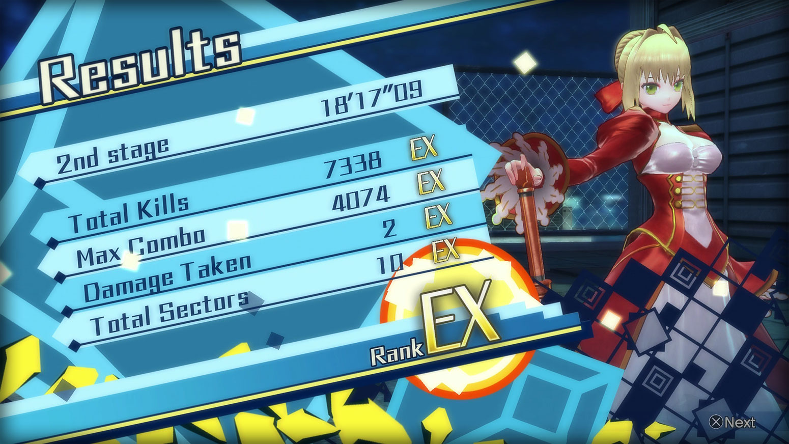 Fate/EXTELLA: The Umbral Star -  Leveling Up Screenshot 1