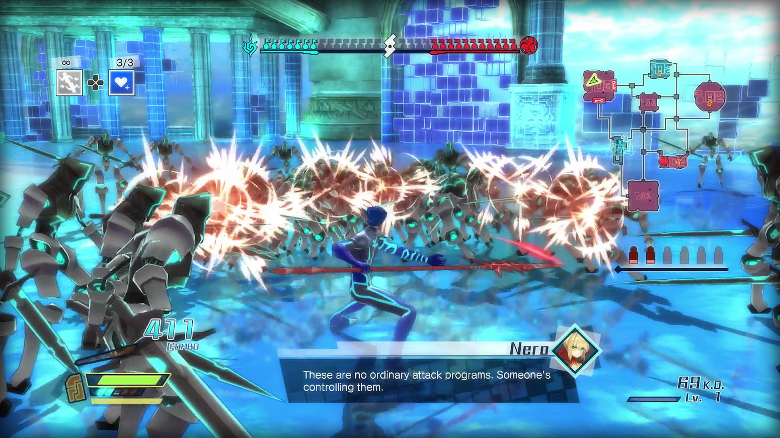 Fate/EXTELLA: The Umbral Star - High Speed Servant Action Screenshot 1